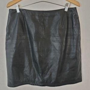 Wilson's Maxima Leather Mini Skirt